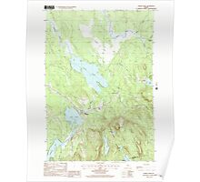 Maine USGS Historical Map Chemo Pond 105021 1988 24000 Poster