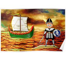 Toon Boy 15 Viking Boy - all products Poster