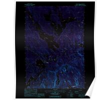 Maine USGS Historical Map Chemo Pond 460312 1988 24000 Inversion Poster