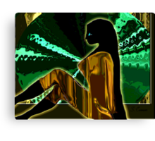 Modern Psychedelic -- The Golden Jumper Canvas Print