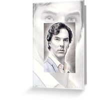 Benedict Cumberbatch miniature Greeting Card