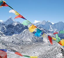 Himalayas over the Khumbu by Laurette Ruys