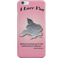 My Heart is Waiting iPhone Case/Skin
