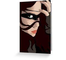 Black Mask Greeting Card