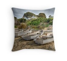 Freycinet Boats Throw Pillow