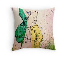 in the tall green grass Throw Pillow