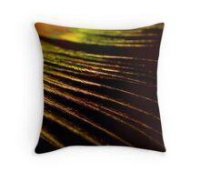Golden Fibers Throw Pillow