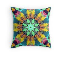 Colour and Pattern Mandala Throw Pillow