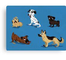 Dog buddies Canvas Print