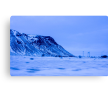 Iceland From A Bus Canvas Print