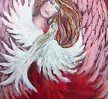 Angel with Dove by Cheryle
