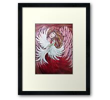 Angel with Dove Framed Print