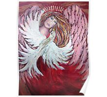 Angel with Dove Poster