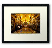 Gothic Hall Framed Print