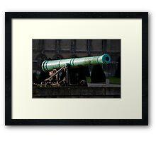 Bronze Cannon Framed Print