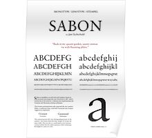 Sabon Typographic Poster Poster