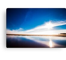Blue Mirror Canvas Print