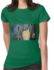 Adult Male American Kestrel Bird Womens Fitted T-Shirt