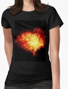 Heart of Fire Womens Fitted T-Shirt