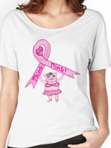Think Pink Pig T-Shirt Women's Relaxed Fit T-Shirt