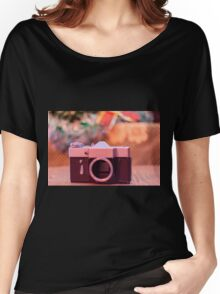 Old retro camera Women's Relaxed Fit T-Shirt