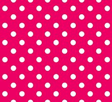 Pink and White Polka Dot Pattern by sale