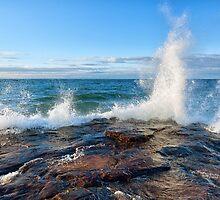 Wave Splash on Lake Superior by Craig Sterken