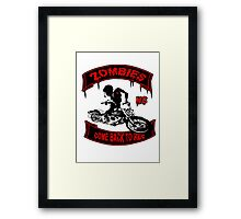 Zombies Bikers Framed Print