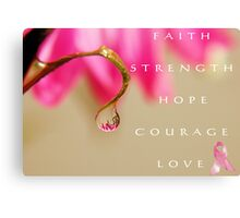 PINK Collection for the Cure - She's a Survivor Canvas Print