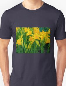 Yellow Lily in the garden Unisex T-Shirt
