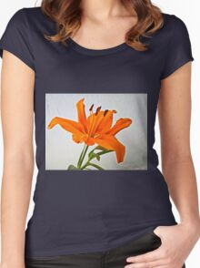 Orange Lily 2 Women's Fitted Scoop T-Shirt