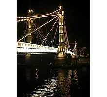 Albert Bridge, River Thames, London. Photographic Print