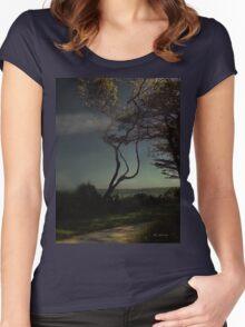 Golden Goodnight Women's Fitted Scoop T-Shirt