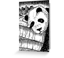 Sleeping panda Greeting Card