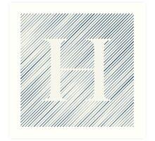 Striped H Art Print