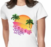Surfer Girl Womens Fitted T-Shirt