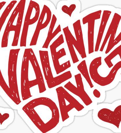 Valentine's Day red Sticker
