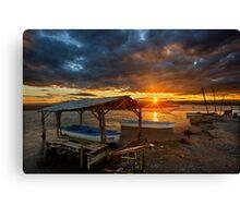 Sunset at the Delta of Aliakmonas Canvas Print