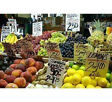 Public Market, Seattle Washington Photographic Print