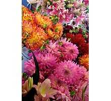 Flowers at Public Market, Seattle Photographic Print