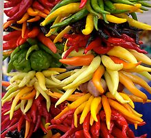 Peppers at the Public Market, Seattle by Henri Irizarri