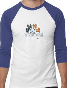Basenjis: Can't Have Just One {dark} Men's Baseball ¾ T-Shirt