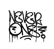 Dripping Graffiti Tag Photographic Print