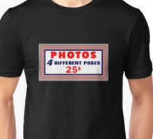 1940's Photobooth Sign Unisex T-Shirt