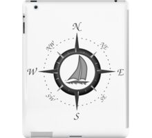 Sailboat And Compass Rose iPad Case/Skin