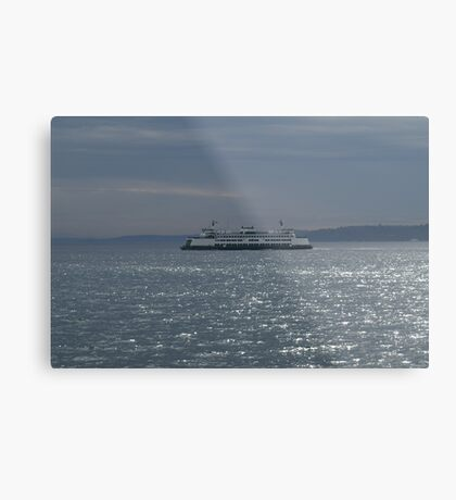 A Washington State Ferry Metal Print