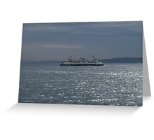 A Washington State Ferry Greeting Card