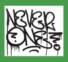 Dripping Graffiti Tag One Piece - Short Sleeve