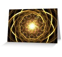 Gold Chantilly Greeting Card