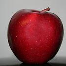 Red apple by Linda Sannuti